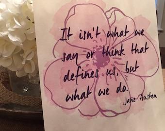 Jane Austen Quote- Printable Art