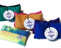 Set of 2 Small Palm Sized Rice Bags - Hand Warmer, Hot/Cold Therapy, Heat Activated Nail Application