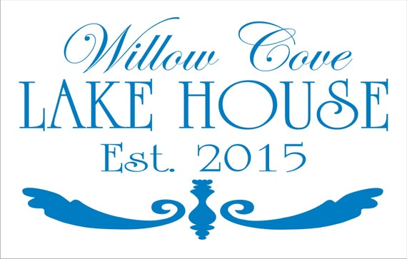 Custom Lake House Signs Stencil Your Family Name Lake