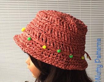 Crochet Newborn Bucket Hat Pattern : Bucket hat pdf Etsy