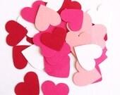 Paper Heart confetti, table decor, wedding favors, set of 100 pieces