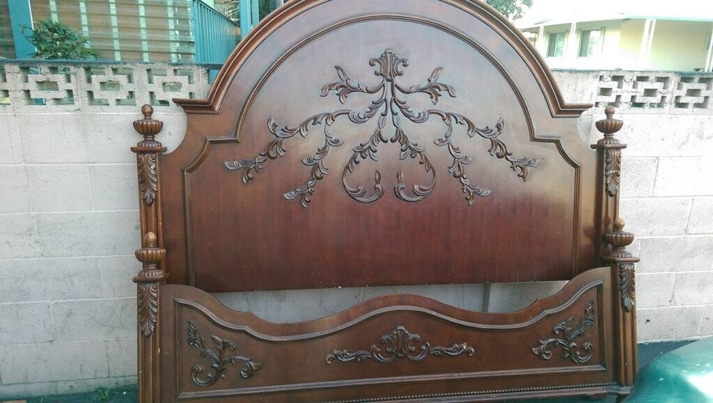 French Country Wooden Queen Bed Frame Dimensions