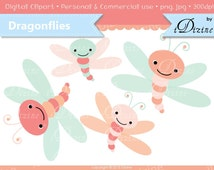 SALE! Dragonfly Clipart  (Personal & Small Business Use)