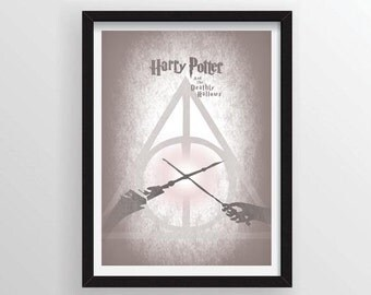 Harry Potter and the Deathly Hallows Poster - A3 and 13 x 19 Available