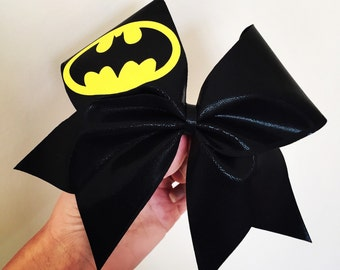 Black Spandex Batman Cheer Bow