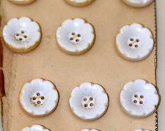 Set of 12 floral buttons