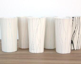 Slip-cast porcelain splatter tumbler