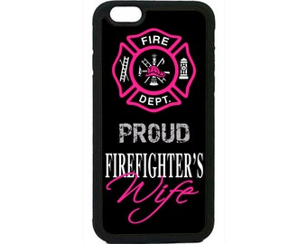 Firefighter Fireman Proud Wife Case Cover for iPhone 4 4s 5 5s 5c 6 6s 6 Plus iPod Touch case