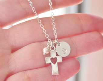 Baptism Necklace, Baby Dedication Necklace, First Communion Gifts, Christening Gifts, Baptism Gifts for Godchild, Baptism Gifts Girls, CDCB