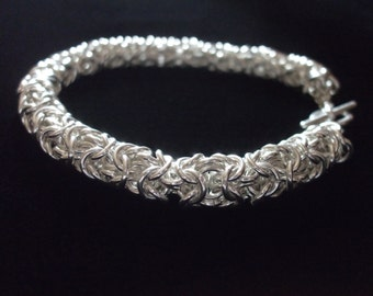 Sterling Silver Turkish Round Chainmaille Bracelet