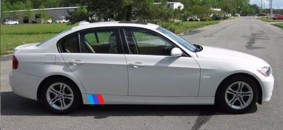 M Style Sideskirt Stripe Hash Mark Racing Stripe Rally Decal - Bmw racing stripes decals