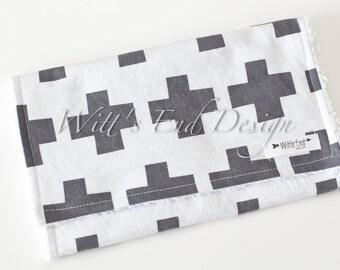 Modern Gender Neutral Burp Cloth MIX & MATCH-Super Absorbent Cotton Chenille-It's a Plus