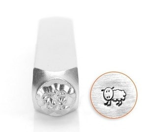 FLUFFY Sheep Metal Design Stamp ImpressArt 6mm, Great for Baby Shower or Mom to Be Jewelry, Steel Stamp