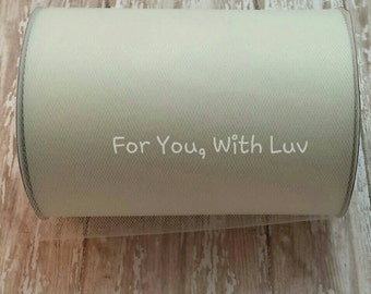 Ivory tulle roll, 100 yards ivory tulle spool of 6 inches wide high quality ivory tulle fabric.