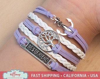 Bracelet- Infinity Bracelet, Infinity Wish Bracelet, Best Friend Bracelet, Wish Tree Bracelet, Anchor Bracelet, Friendship Bracelet - A2