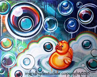 Bubble Ducky, giclee print on archival paper