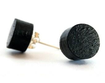 Black wood studs,black wooden studs,black wood posts,black wooden posts,black wood earrings,black wooden earrings,black studs,black posts