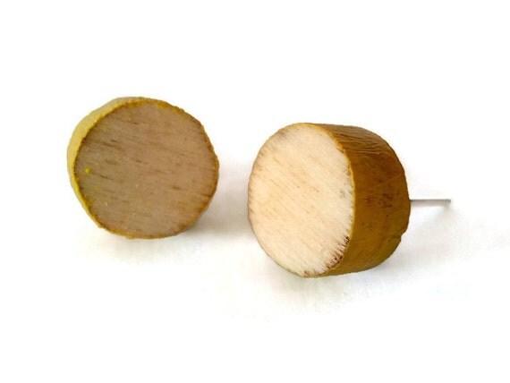 Ohrringe Aus Holz FUr Männer ~ Koci, Handarbeit aus Holz Taste Ohrringe mit den Farben der Früchte