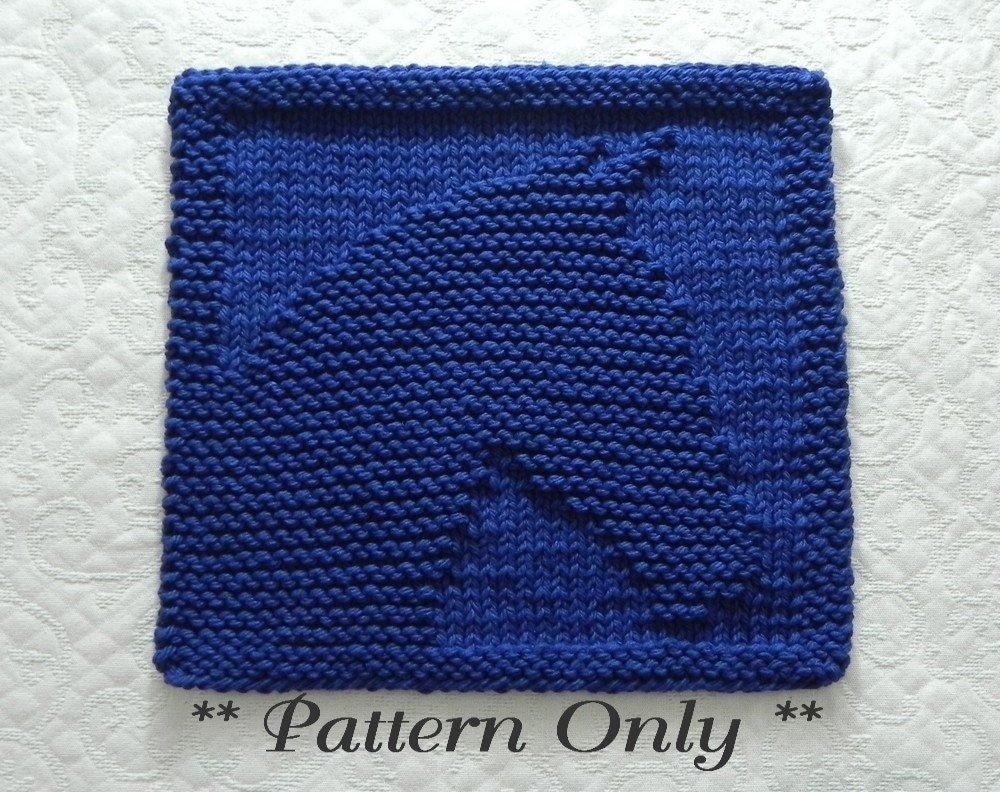 Knit Dishcloth Pattern Horse : Knitting Pattern HORSE PDF Instant Download Easy Knitting