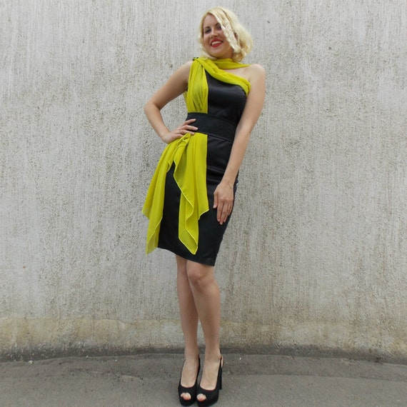 Cocktail dress with scarf