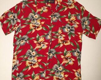 Vintage Roundy Bay Mens Hawaiian Shirt.