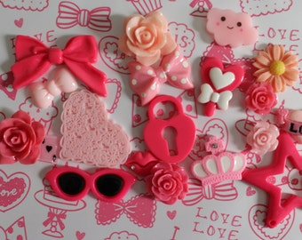 Hot Pink & Pink Deco Set A19