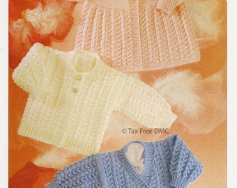 Knitting Pattern Baby Child Cardigans UKHKA  DK 2 12-20 inch  new