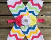 Multi Color Chevron Leg Warmer Set for infants,toddlers and adolescence. Baby Leg Warmers Leg Warmers, Valentines baby headband