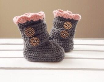 Baby crochet slippers