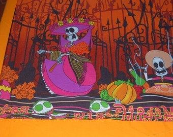 Day of the Dead Katrina - Halloween  Tablecloth - Rectangular 52 by 102