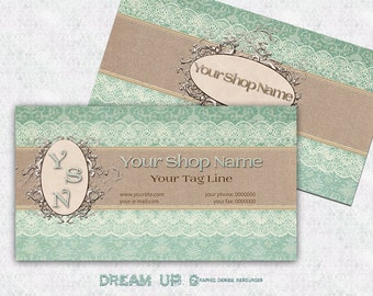 Business Card SHABBY CHIC Design, Vintage Premade Business Card, Printable Business Card, Digital Business Card Template - SUPERIOR  n. 123