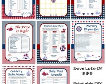 DIY Nautical Baby Shower Games, Baby Shower Game Package, Printable Nautical Games, Nautical Shower Game Download - By Printables 4 Less