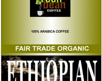 Fair Trade Organic ETHIOPIAN coffee, Fresh roasted coffee, whole bean Ethiopian coffee, organic coffee, ground coffee beans.