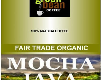 Fresh roasted coffee, Fair Trade Organic MOCHA JAVA, African and Indonesian beans, 2oz SAMPLER