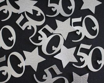 50th Confetti - Gold - Number/Anniversary Confetti - Party Confetti #2029