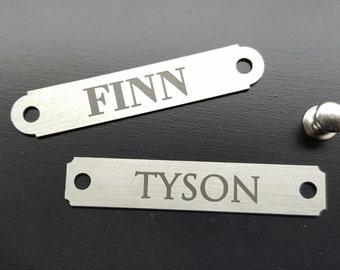 Dog Collar Name Plate Small