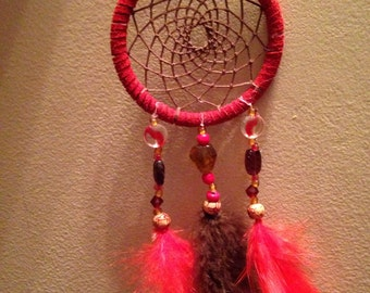 Red & Brown Dreamcatcher