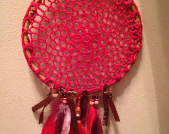 Tan & Red Dreamcatcher