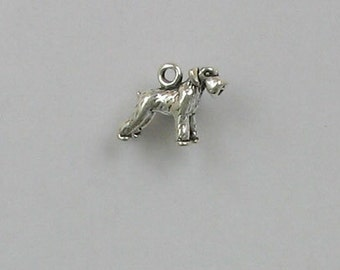 Sterling Silver 3-D Miniature Schnauzer Charm