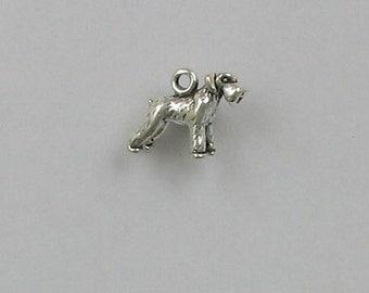 Sterling Silver 3-D Miniature Schnauzer Charm