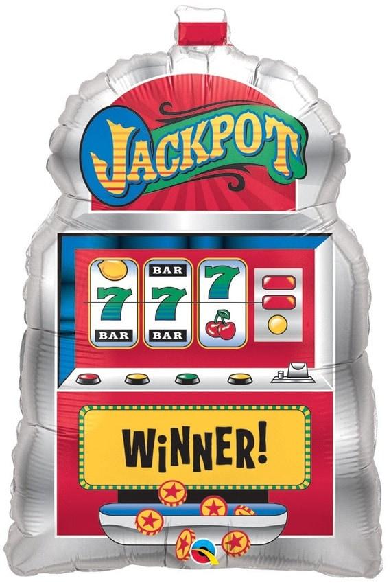 29 jackpot slot machine foil mylar balloon birthday for Balloon decoration machine
