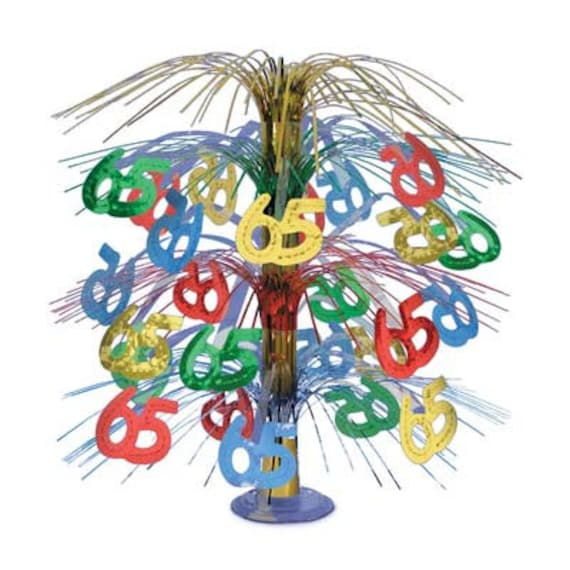 65th centerpiece 18 cascade birthday party decorations for 65th birthday party decoration ideas