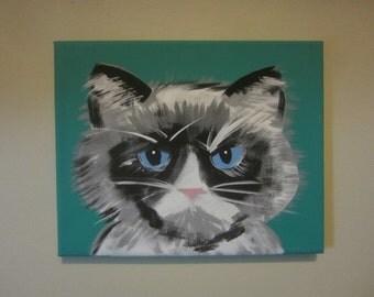 Turquoise Grumpy Cat