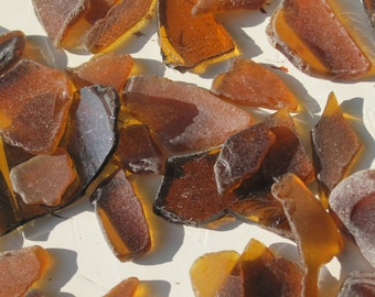 Lot of Brown Sea Glass