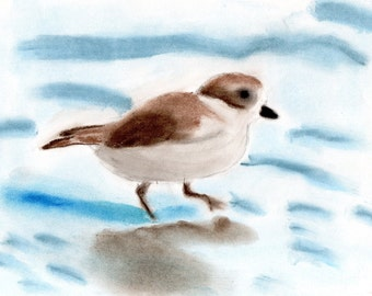 Sand Piper in Pastels 4x6 Print