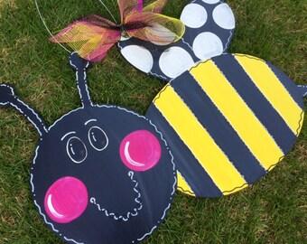 Bee Door Hanger, Summer Door Hanger, Spring Door Hanger, Happy Birthday, Welcome