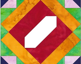 Album Block 4 Paper Piece Foundation Quilting Block Pattern