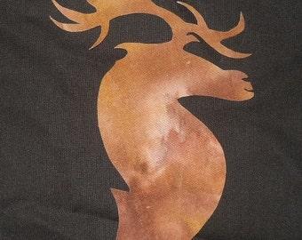 Solid Elk silhouette Applique Pattern Design (easy)