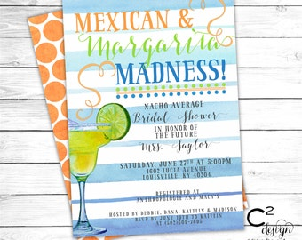 Mexican & Margarita Madness Party Invitation