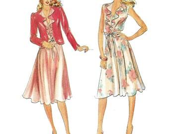 Butterick Sewing Pattern 3573 Misses' Jacket, Dress  Size:  A  8-10-12  Uncut